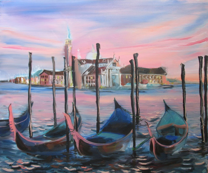 Венеция  холст, масло Суханова Виктория - фото 1