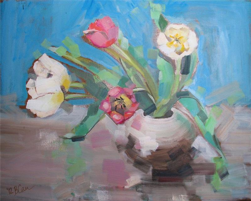 Тюльпаны  холст на картоне, масло Суханова Виктория - фото 1
