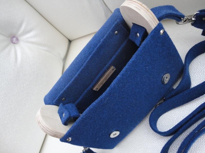 Сумка Море цветов 2 Голубой Войлок, кожа, дерево Synyava bags & accessories - фото 2