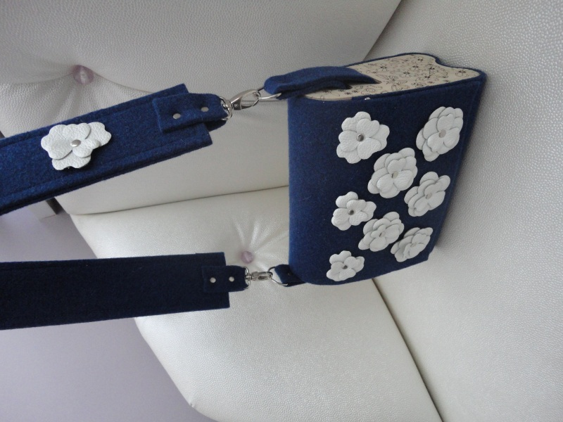 Сумка Море цветов 2 Голубой Войлок, кожа, дерево Synyava bags & accessories - фото 6