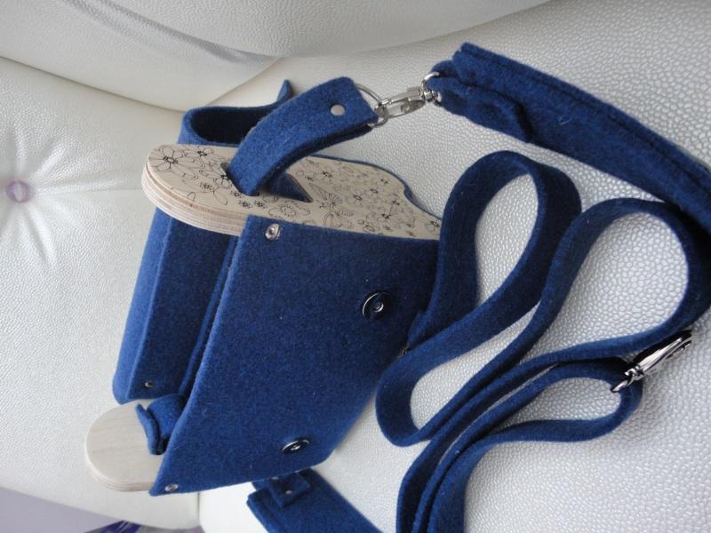 Сумка Море цветов 2 Голубой Войлок, кожа, дерево Synyava bags & accessories - фото 8