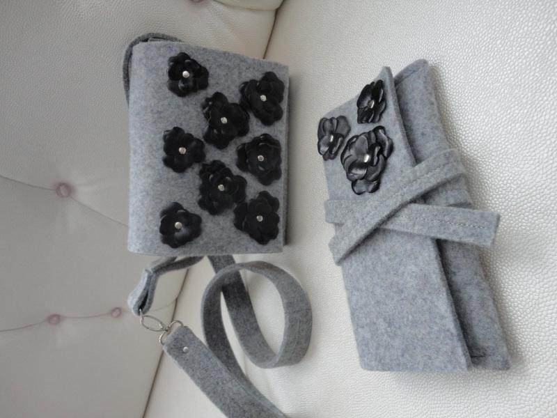 Сумка Море цветов 4 Серый Войлок, дерево, кожа Synyava bags & accessories - фото 3
