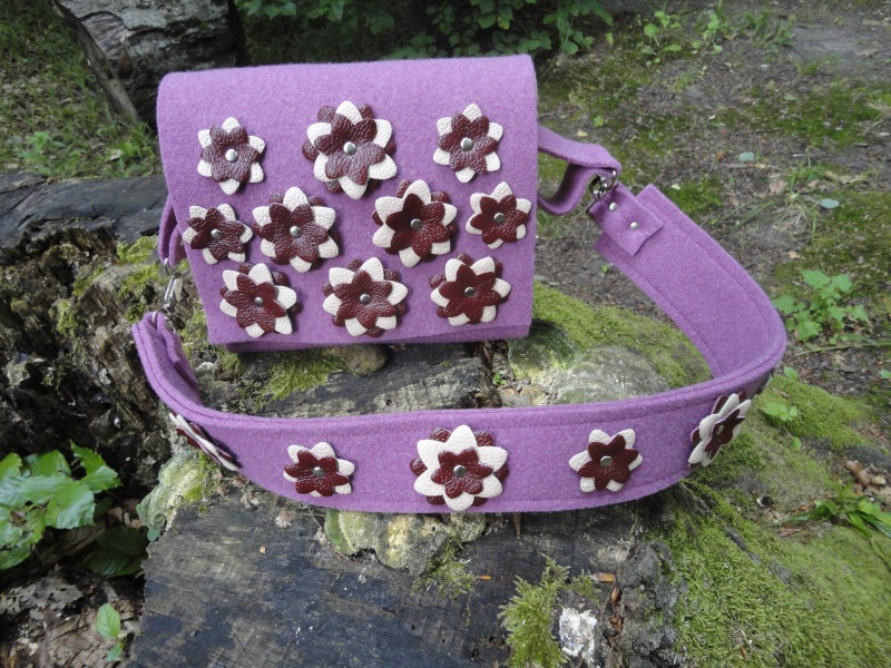 Сумка Море цветов 2 Голубой Войлок, кожа, дерево Synyava bags & accessories - фото 5
