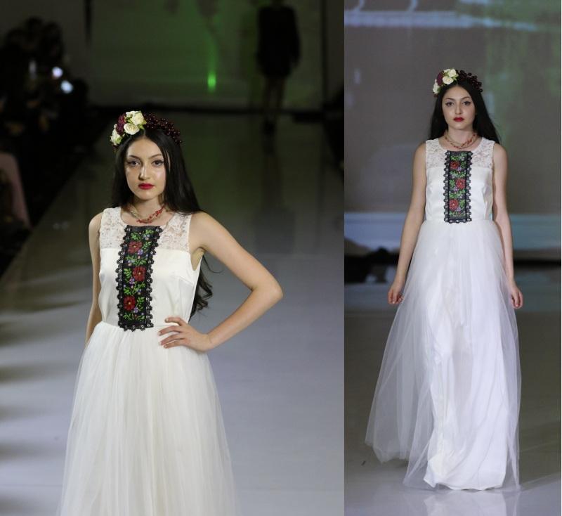 Платье 5 Белый Матовый атлас, евросетка, Цисецька Ирина - фото 1