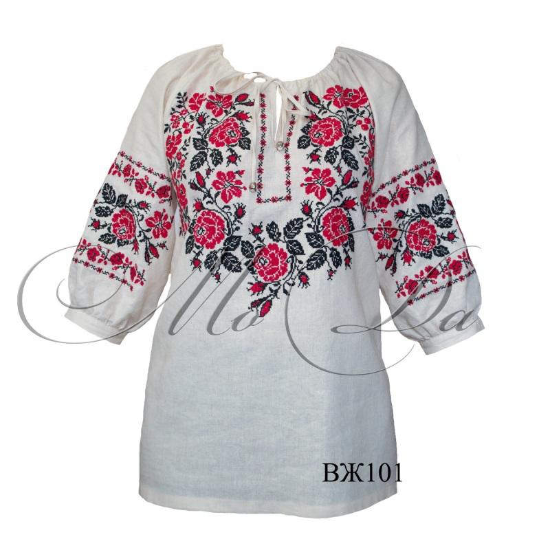 Рубашка с вышивкой крестиком ВЖ101  Лен Дизайн-студия «МоДа» - фото 3