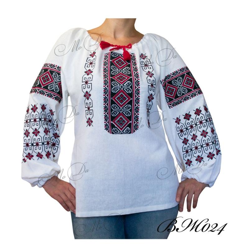 Рубашка с вышивкой ВЖ024 Белый Лен Дизайн-студия «МоДа» - фото 1