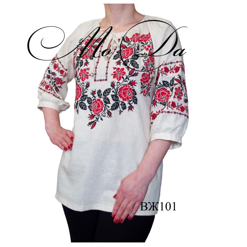 Рубашка с вышивкой крестиком ВЖ101  Лен Дизайн-студия «МоДа» - фото 1