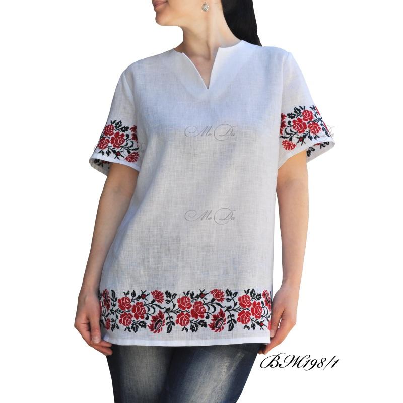 Рубашка с вышивкой ВЖ198/1 Белый Лен Дизайн-студия «МоДа» - фото 1