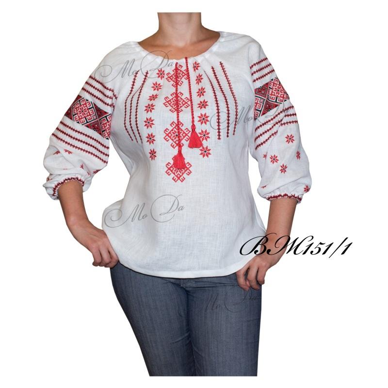 Рубашка с вышивкой ВЖ151/1 Белый Лен Дизайн-студия «МоДа» - фото 1