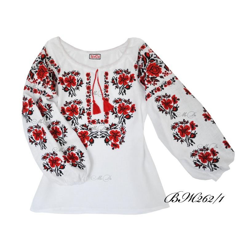 Рубашка с вышивкой крестиком ВЖ262/1 Белый Лен Дизайн-студия «МоДа» - фото 2