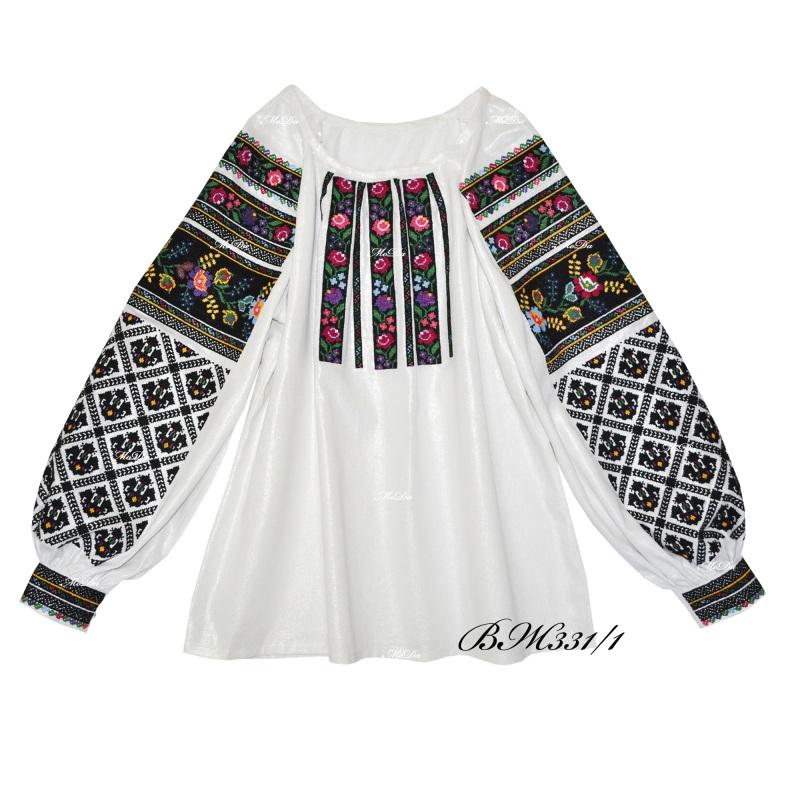 Рубашка с вышивкой крестиком ВЖ 331/1 Белый Лен Дизайн-студия «МоДа» - фото 2