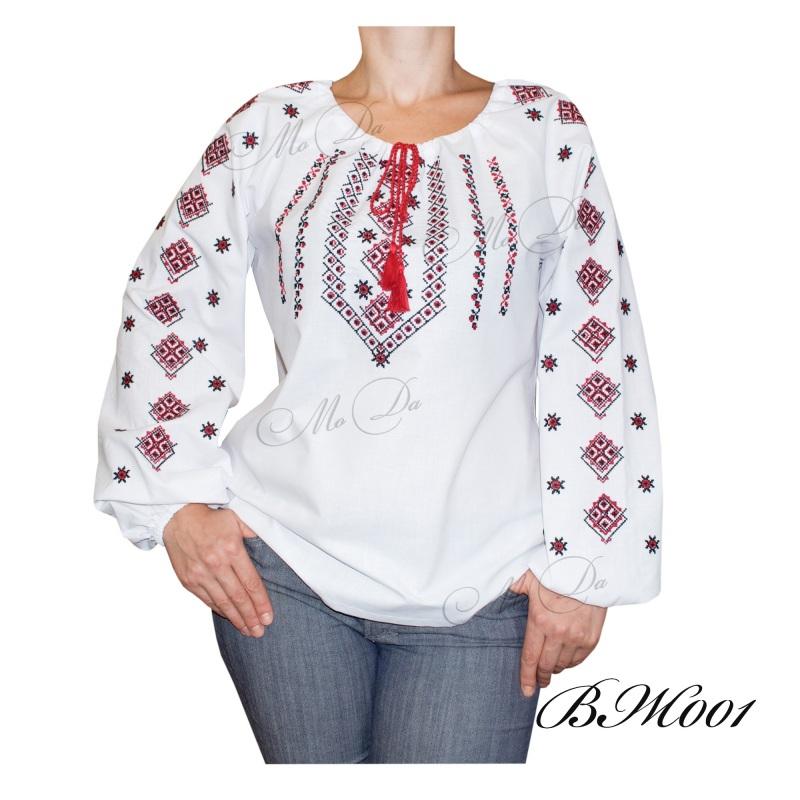 Рубашка с вышивкой ВЖ001 Белый Лен Дизайн-студия «МоДа» - фото 1