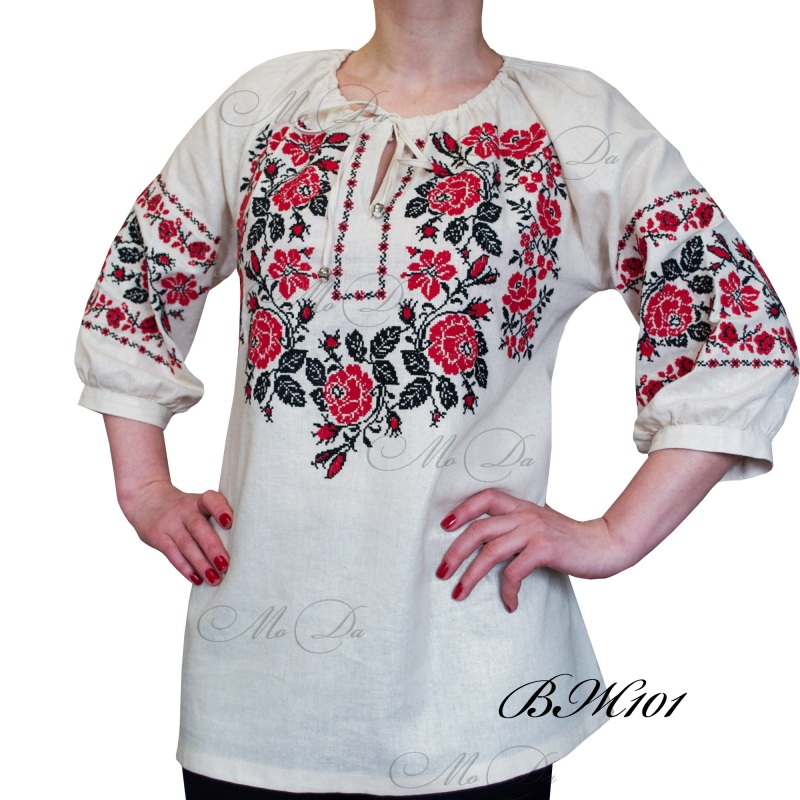 Рубашка с вышивкой крестиком ВЖ101  Лен Дизайн-студия «МоДа» - фото 2