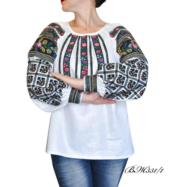 Рубашка с вышивкой крестиком ВЖ 331/1 Белый Лен Дизайн-студия «МоДа» - фото 1