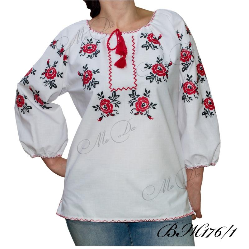 Рубашка с вышивкой ВЖ176/1 Белый Лен Дизайн-студия «МоДа» - фото 1