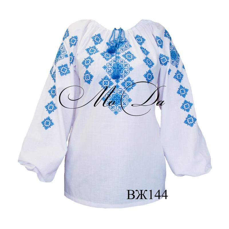 Рубашка с вышивкой крестиком ВЖ144 Белый Лен Дизайн-студия «МоДа» - фото 1