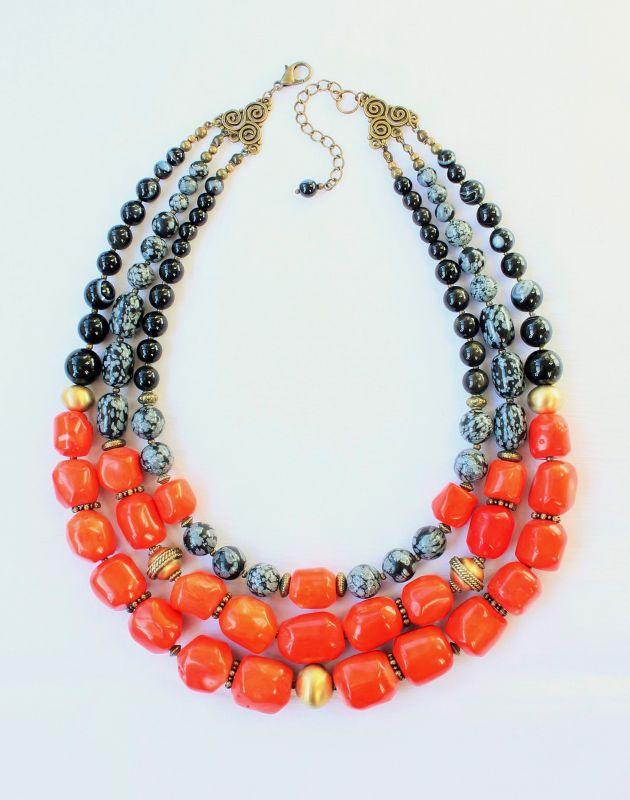 Ожерелье к вышиванке Красный Натуральный коралл, натур Тикот Ирина - фото 1