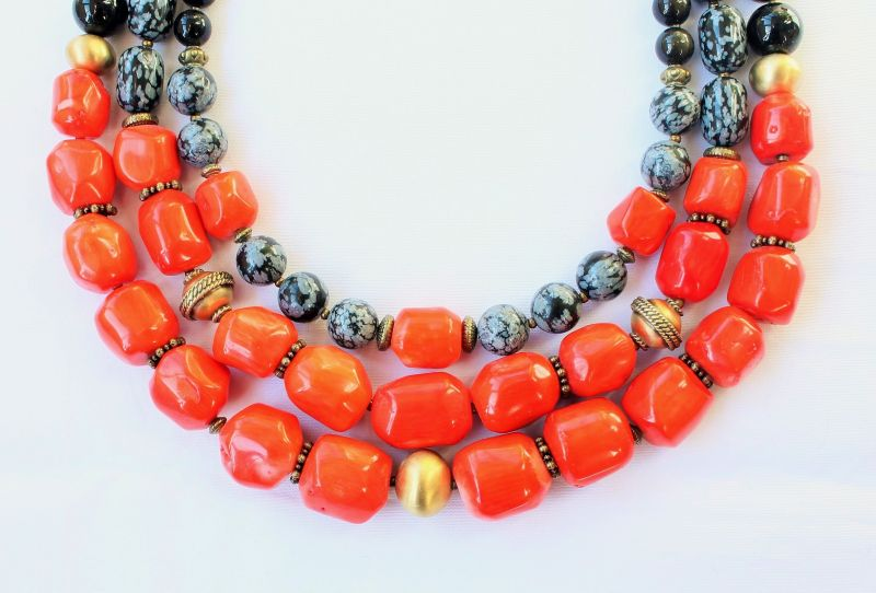 Ожерелье к вышиванке Красный Натуральный коралл, натур Тикот Ирина - фото 3