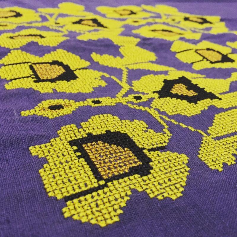 Вышитый жакет Фиолетовый лен 100% Ukrlook - фото 4