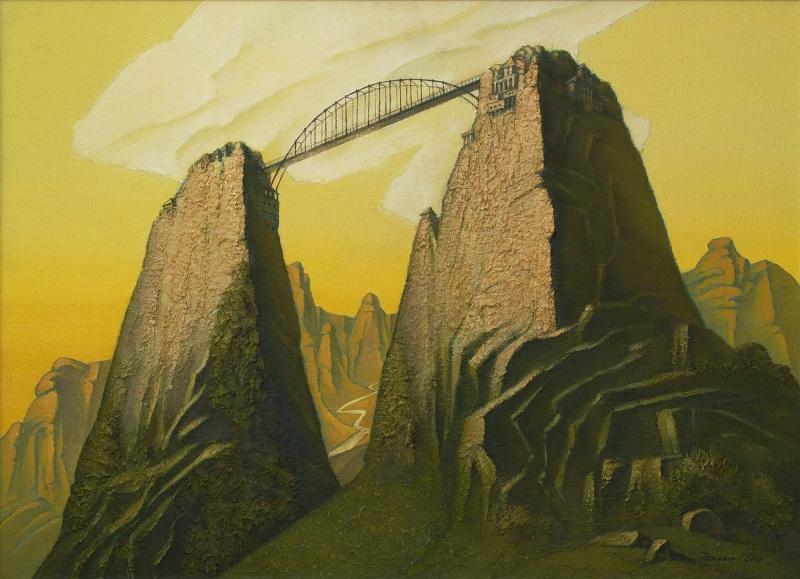 Мост  холст, масло Токарук Игорь - фото 1