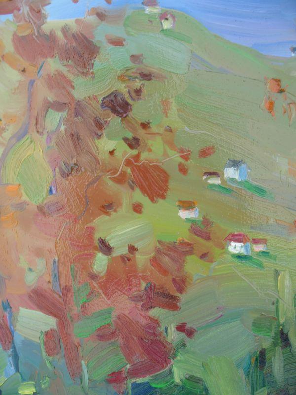 Осеннее настроение  Оргалит, масло Трачук Анна - фото 5