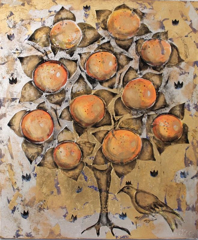 Апельсиновое Дерево  холст, смешанная техника, Уварова Анна - фото 1
