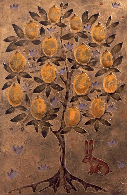 Лимонное дерево  холст, смешанная техника Уварова Анна - фото 1