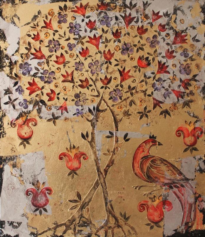 Жар-Птица  холст, смешанная техника Уварова Анна - фото 1