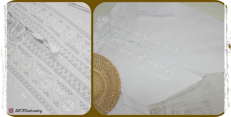 Мужская вышиванка  домотканое хлопковое поло Вархола Юлия - фото 1