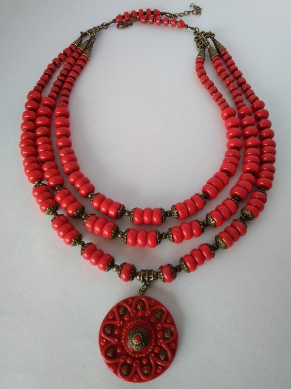 Ожерелье Ярило  стекло, полимерная глина, Василенко Елена - фото 2