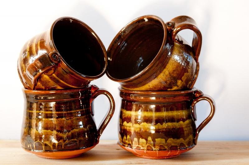 Чашка мраморная большая. Цена за пару  глина, глазурь, ангобы Величко Николай - фото 1