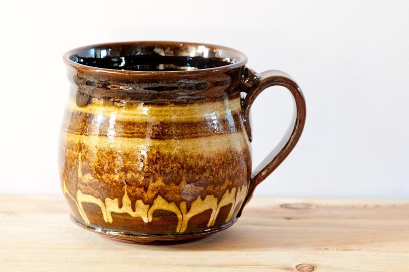 Чашка мраморная большая. Цена за пару  глина, глазурь, ангобы Величко Николай - фото 4