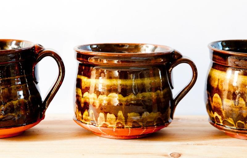 Чашка мраморная большая. Цена за пару  глина, глазурь, ангобы Величко Николай - фото 3