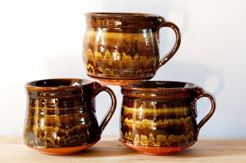 Чашка мраморная большая. Цена за пару  глина, глазурь, ангобы Величко Николай - фото 2