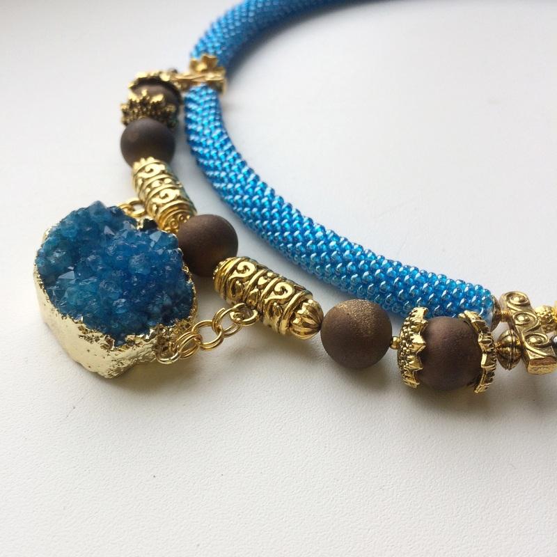 Лагуна Синий Друза агата, камни агата Веселова Маргарита - фото 5