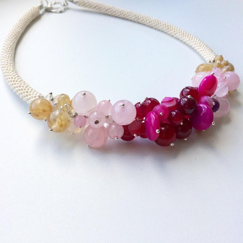 Запах роз  халцедон, кварц, кварц во Веселова Маргарита - фото 3