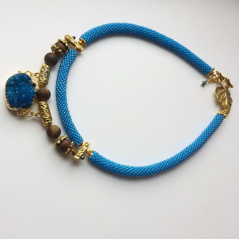 Лагуна Синий Друза агата, камни агата Веселова Маргарита - фото 2
