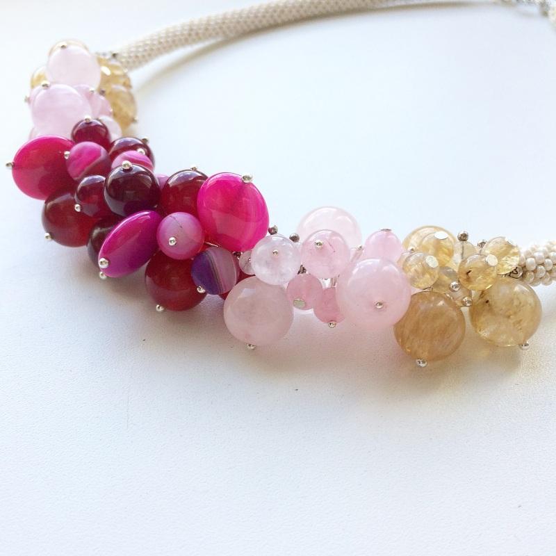 Запах роз  халцедон, кварц, кварц во Веселова Маргарита - фото 6