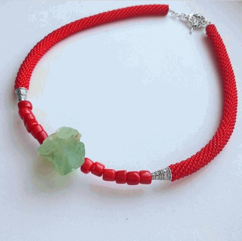 Камень Изциления Красный Камень нефрита, кораллы, Веселова Маргарита - фото 2
