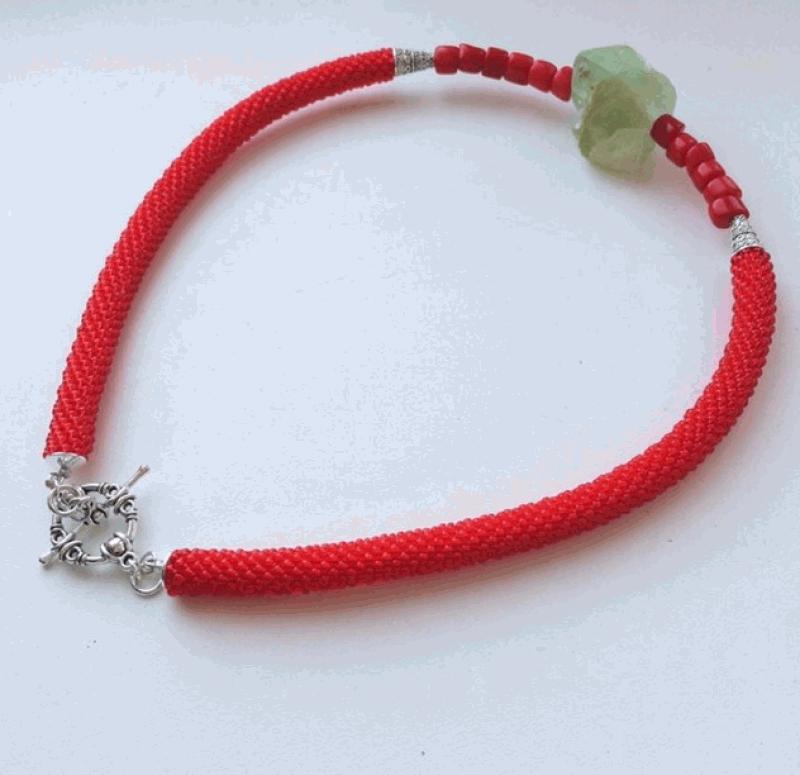 Камень Изциления Красный Камень нефрита, кораллы, Веселова Маргарита - фото 3