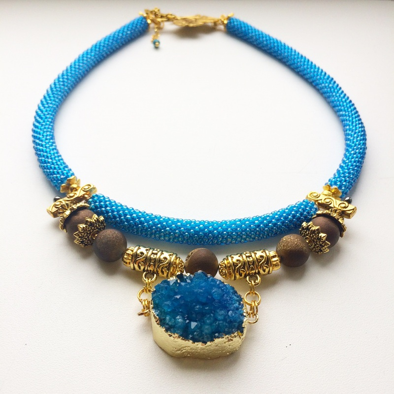 Лагуна Синий Друза агата, камни агата Веселова Маргарита - фото 3