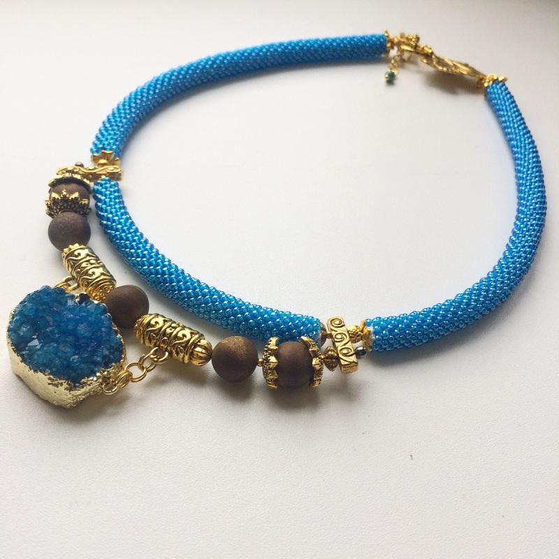 Лагуна Синий Друза агата, камни агата Веселова Маргарита - фото 4