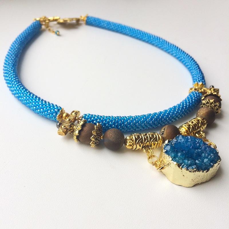 Лагуна Синий Друза агата, камни агата Веселова Маргарита - фото 1