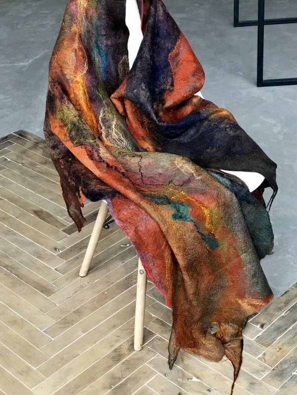 Львовская осень Оранжевый Шерсть, шелк, волокна шел Винокурова Елена - фото 5