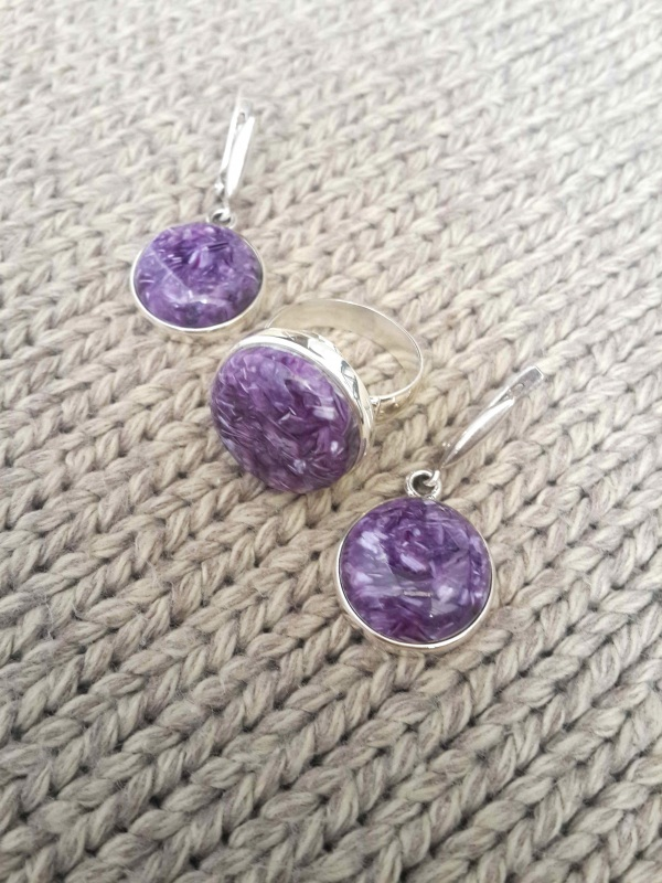 Набор украшений Фиолетовый набор украшений Серебро Волошин Ирина - фото 3
