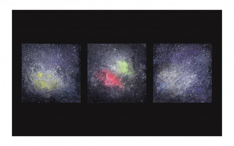 Вселенная  плотный картон, акриловые Воронцова Ольга - фото 1