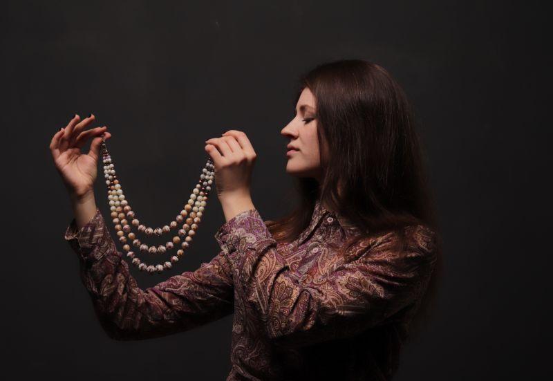 """Ожерелье """"С Венеции"""" Белый художественное стекло, пе Вит Анастасия - фото 5"""