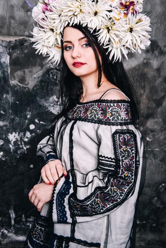 Блузка Черно-белый лен Витенько Елена - фото 3