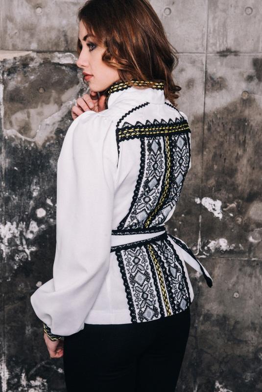 Блузка женская вышитое бисером Белый под заказ Витенько Елена - фото 2