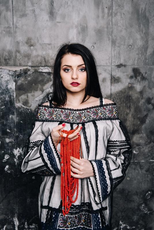 Блузка Черно-белый лен Витенько Елена - фото 2